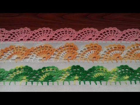 orilla para servilleta o toallas de cocina abanicos # 12 - YouTube