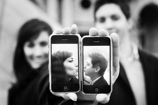 iPhone love in a photo within a photo...