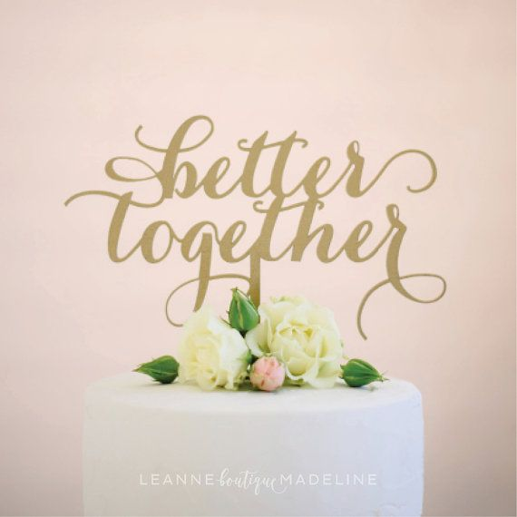 Better Together Silver Cake Toppers