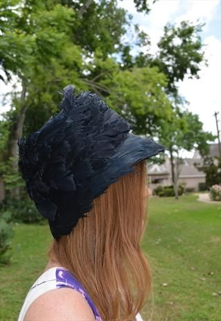 Vintage 50's Feather Hat