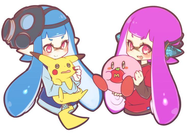 Inkling,kirby,pikachu kawaii