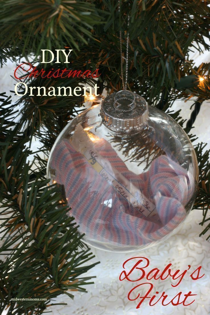 You bring your child home from the hospital and you have several keepsake items. What to do with them? Try making a Baby's First Ornament with this DIY Christmas Ornaments Tutorial.