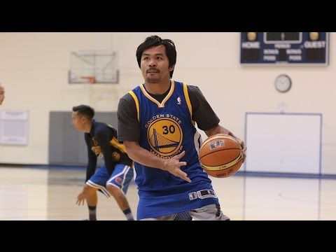 Manny Pacquiao's Warriors Visit - YouTube