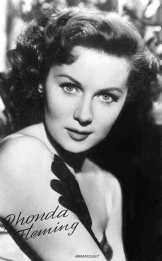 Rhonda Fleming...this is who I am named after! She was my mom's favorite actress! Love Pinterest!