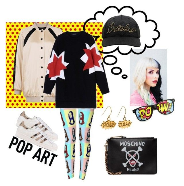 """Pop-art, спортивный стиль"" by anastasia-rysjatova on Polyvore featuring мода, Kendall + Kylie, ZeroUV, Edge Only, Moschino, adidas Originals и Neil Barrett"