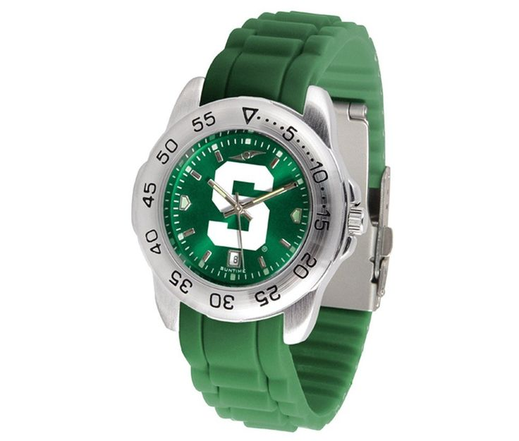 The Sport AnoChrome Michigan State Spartans Watch is available in a Mens style. Showcases the Spartans logo. Color-coordinated silicone band. Free Shipping. Visit SportsFansPlus.com for Details.
