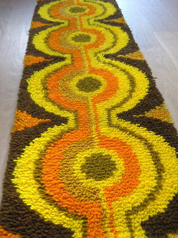 60s 70s Mod Design Rug Carpet Verner Panton Eames Era Mid