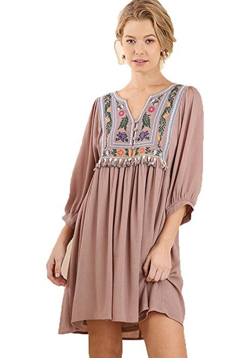 0fe59188a Umgee Women s Bohemian Tunic or Dress (S