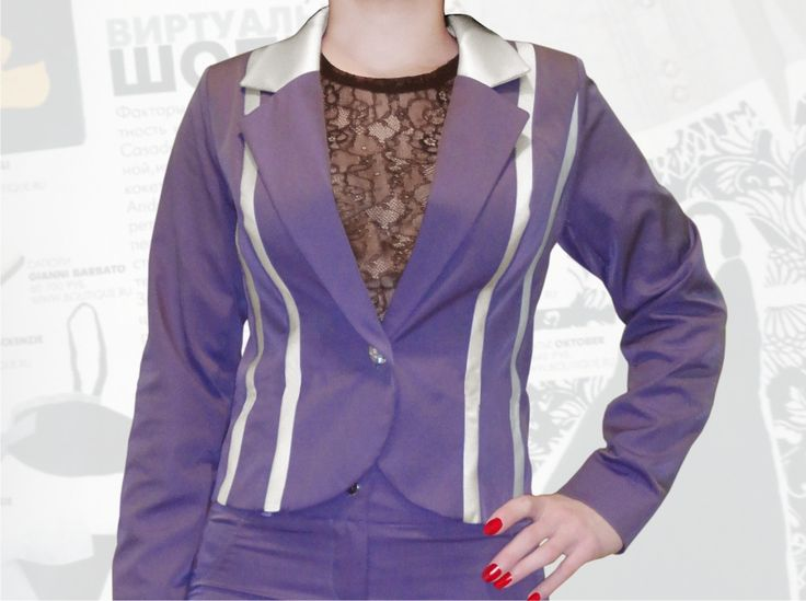 54$ Деловой пиджак для полных девушек с атласными молочными, полосками Артикул 662, р50-64 Пиджаки модные большие размеры Пиджаки женские большие размеры  Пиджаки офисные большие размеры  Пиджаки деловые большие размеры