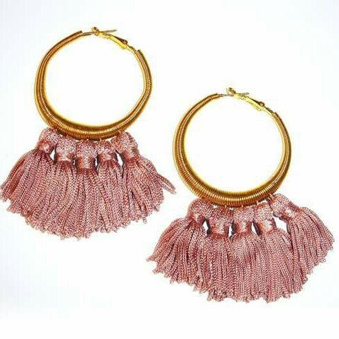 Golden circle earrings with pendant  ♡ Art'Made Bijoux ♡ www.etsy.com/it/shop/ArtMadeBijoux