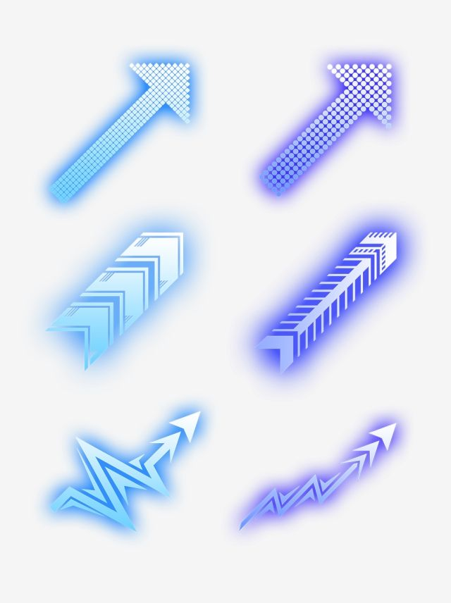 Blue Effect Future Technology Arrow Collection Set Blue Future Arrow Technology Arrow Png Transparent Clipart Image And Psd File For Free Download Geometri