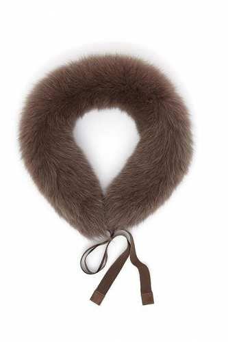 Prezzi e Sconti: #Bordo in pelliccia Marrone scuro  ad Euro 71.00 in #Eecru #Borse e accessori sciarpe e colli