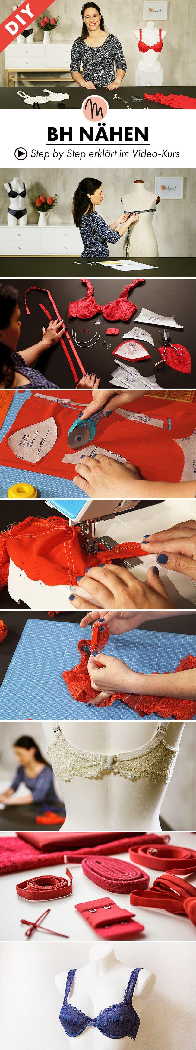 Hier lernt ihr, wie ihr einen Bügel-BH ganz einfach selber nähen könnt - Step by Step erklärt im Video-Kurs via Makerist.de
