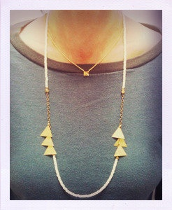 Triad Necklace by TinyArmour on Etsy, $45.00