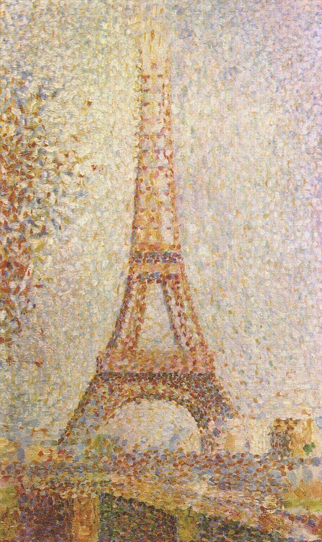 Georges Seurat, La Tour Eiffel, 1889, olio su tela, Museum of Fine Arts, San Francisco.