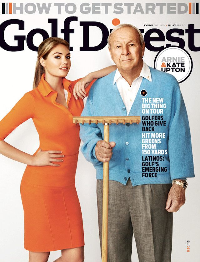Kate Upton's thumb gets cut off by Photoshop, along with her curves, Thanks Golf Digest...