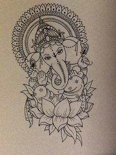 ganesha lotus drawing - Google Search