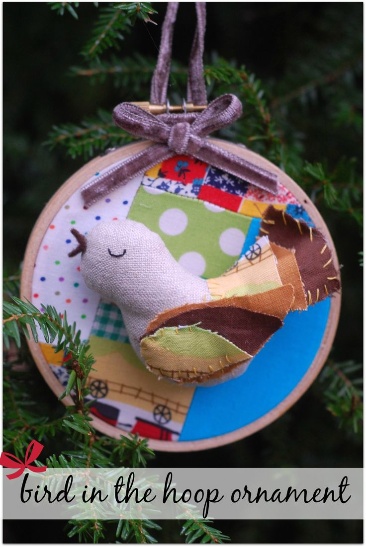 Free pattern for a lovely Bird in the Hoop Ornament!