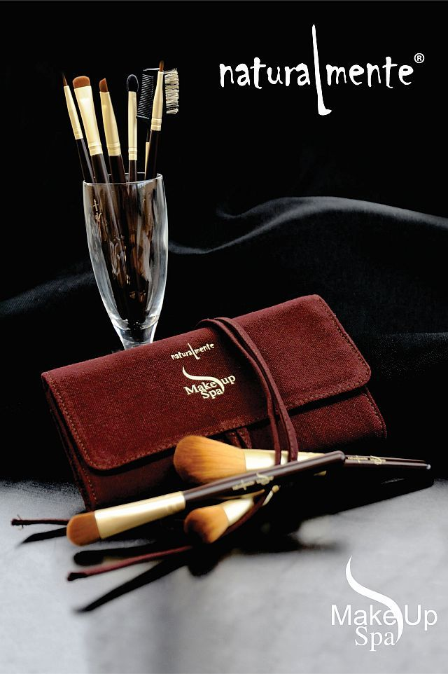 In the Make Up Spa Range we have 10 different Make Up Brushes to assist you in the application of your natural Make Up Spa products and they all have natural bristles