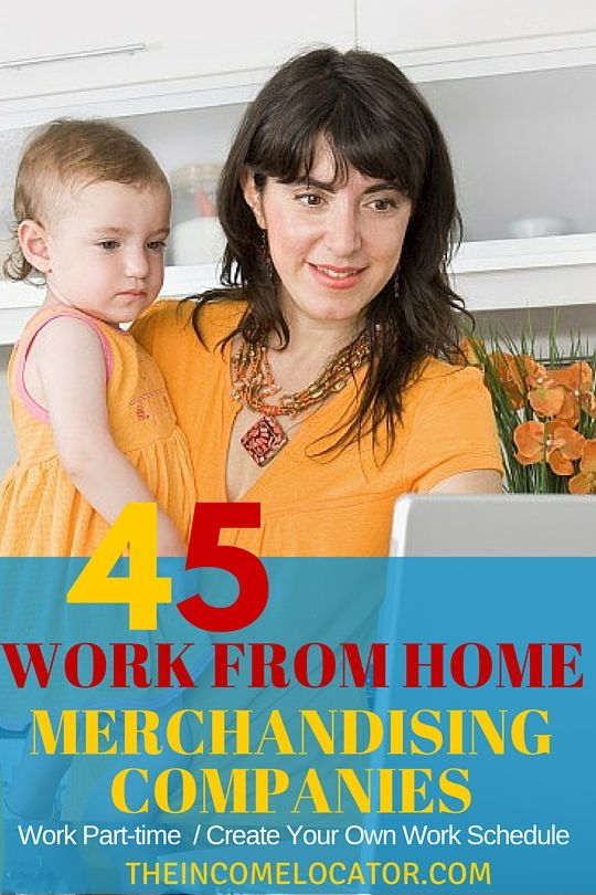 Want a great way to work from home part time? Here's a list of 45+ merchandising companies that will allow you to earn extra money many times on your own time. Find your part work from home job today.