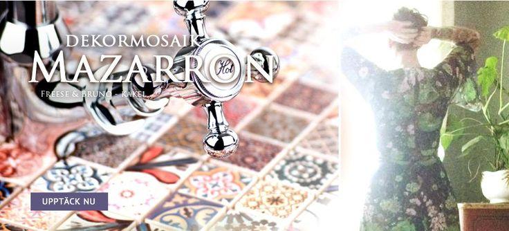 2,3X2,3 MAZARRON MOSAIK  Handgjord multicolor-väggmosaik som är influerat av sagostaden Marrakesh. #Marrakesh #mosaic #tiles