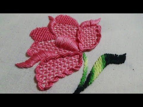 Hand Embroidery: Flower Embroidery - YouTube