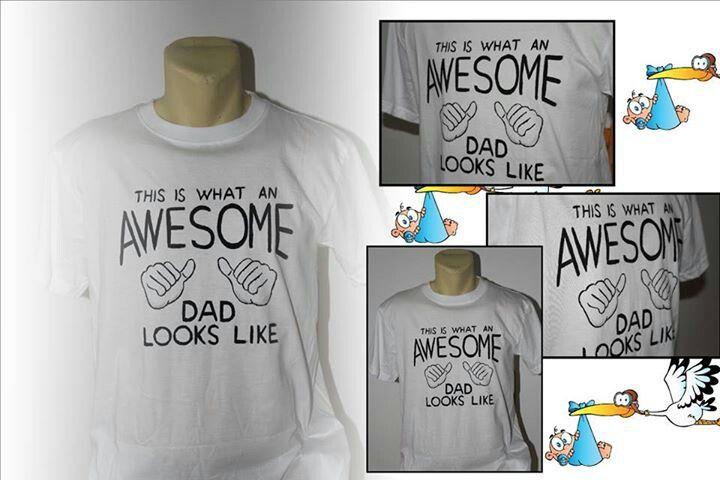 """Awsome dad"" hand painted t-shirt"