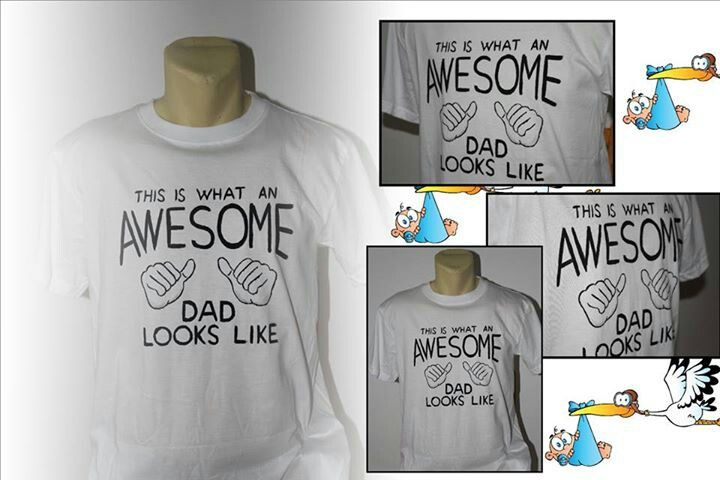 """Awsome dad"" hand painted t-shirt"