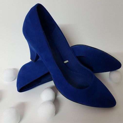 Zapato salón azul eléctrico - Chicfy