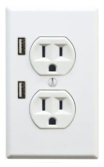 New socket design with USB outlets: Great for iPhone and iPod chargers - should be standard in every new home                                                                                                                                                                                 More