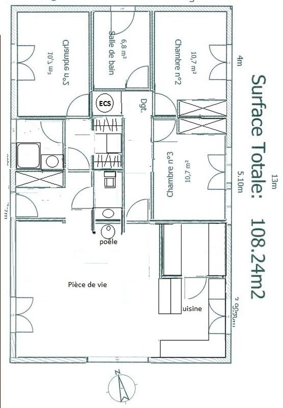 Maison de 100m2 pk55 jornalagora for Plan maison contemporaine 100m2