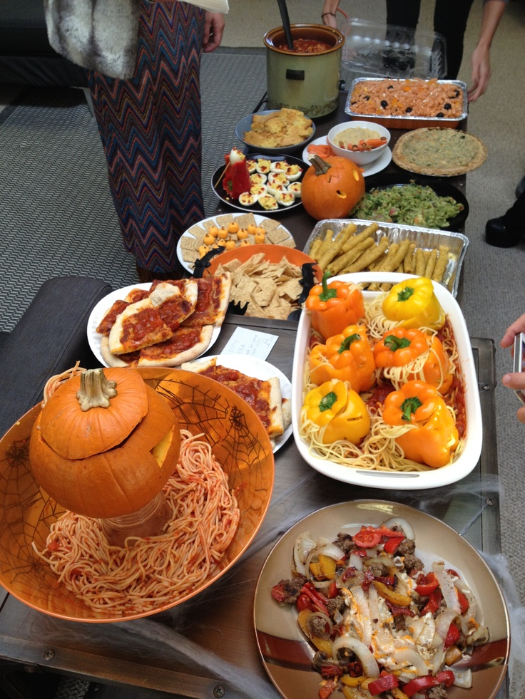 halloween themed  office potluck