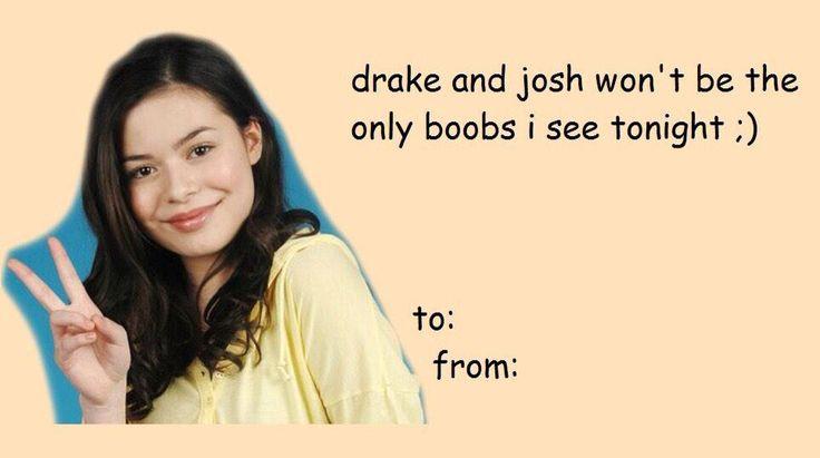 Drake And Josh Valentines Day Card | Ha Ha Ha. Thatu0027s Funny! | Pinterest