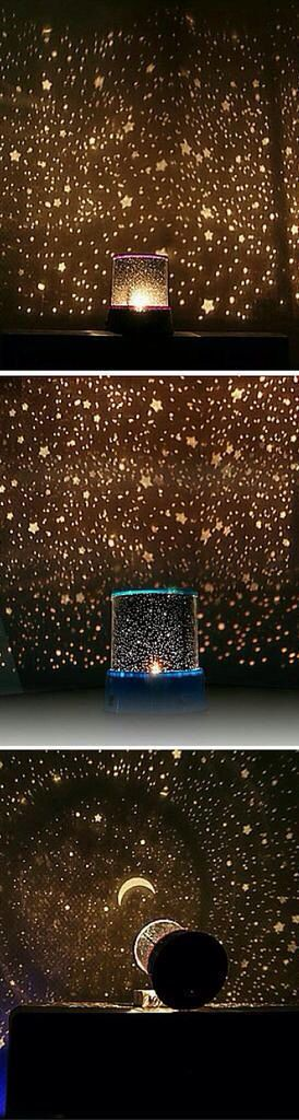 I need this lamp! I love looking out at the stars.