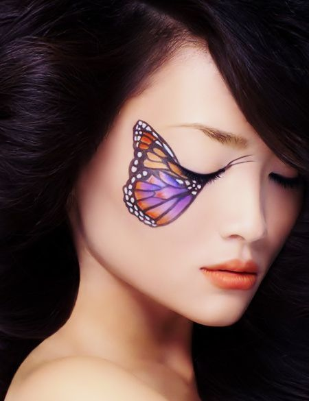 61 Id Es De Costumes D 39 Halloween Maquillage Et Coiffures Halloween Papillons Et Maquillage