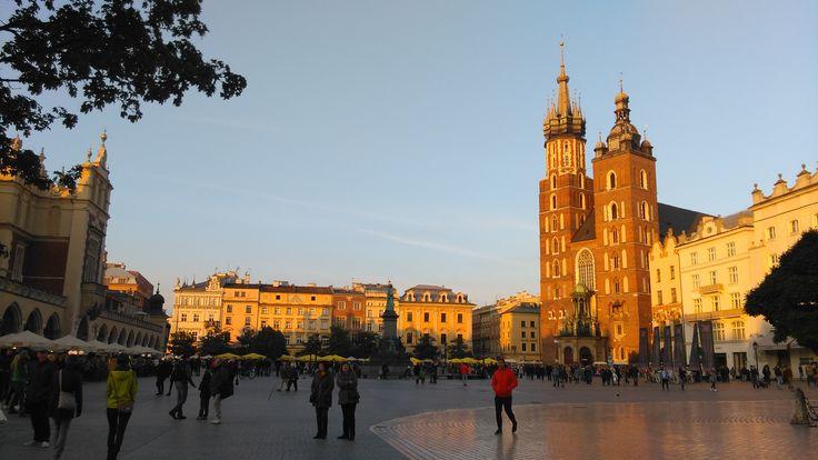 Kraków's Main Square at dusk