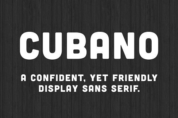 Cubano Font by chandlervdw on @creativemarket
