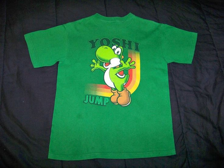 Boy's Green Everyday Size 8 Youth Character T Shirt 100% Cotton #Nintendo #Everyday