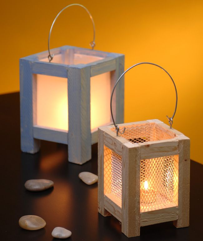 Come costruire una lanterna in legno, le aperture possono essere chiuse da fogli di plastica alveolare o da reticelle metalliche e il fondo in compensato.