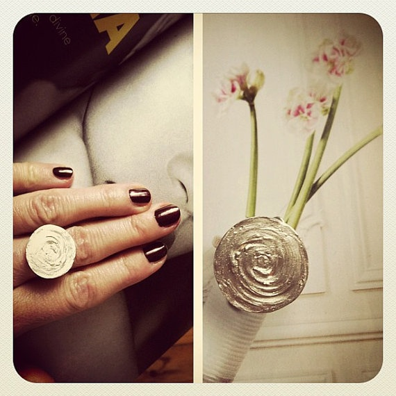 Pure Silver Ripples Ring  Made to measure by SiBijoux on Etsy, €90.00