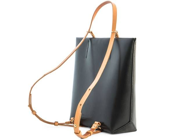 Iala Diez Eolie Max B Black Leather Backpack
