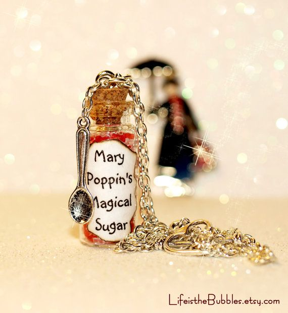 MARY POPPINS Spoonful of Magical Sugar Necklace including a Spoon Charm - UNIQUE. $15.00, via Etsy.