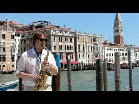 Саксофонист Юрий Федоренко Киев - YouTube, Summertime, Venice, Italy, saxophone, music, saxophonist, саксофон, саксофонист, Венеция, Италия, лето