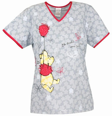 Pooh Bear scrub top. Cute!