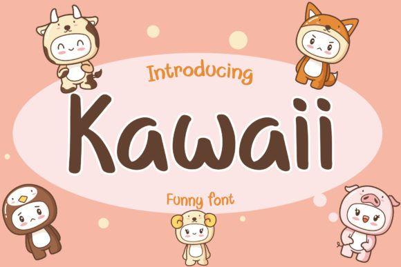 Kawaii Font By Aquariid Creative Fabrica In 2020 All Fonts Fonts Premium Fonts