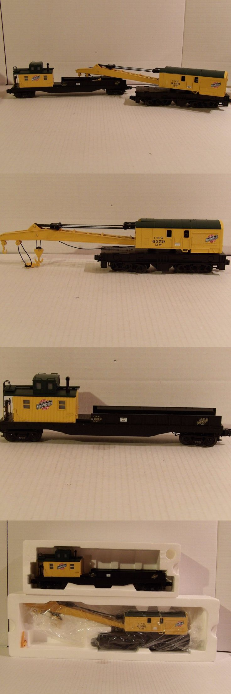 Freight Cars 122596: Mth Premier,Chicago Northwestern, Crane Car Andtender, 20-98238And20-9824, O-Gauge -> BUY IT NOW ONLY: $99.95 on eBay!