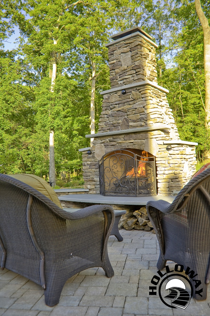 Wood storage, Company inc and Outdoor fireplaces on Pinterest