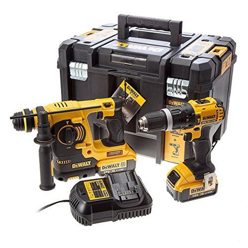 Dewalt DCK260M2T Perceuse visseuse à percussion + Perforateur burineur SDS plus 2 x 18 V 4 Ah: Cet article Dewalt DCK260M2T Perceuse…