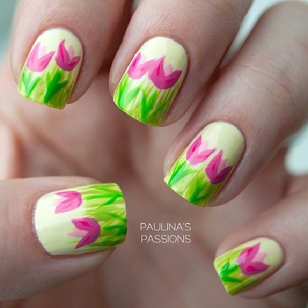 7 Best ★Tulips Nail Art★ Images On Pinterest