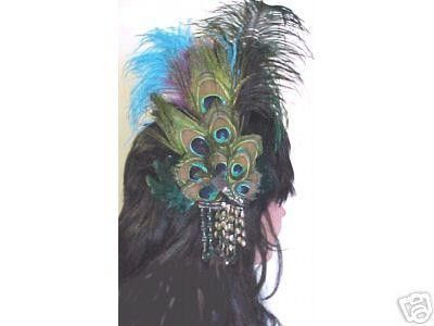 Peacock hair pin